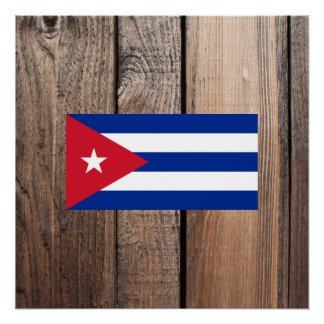 National Flag of Cuba Poster