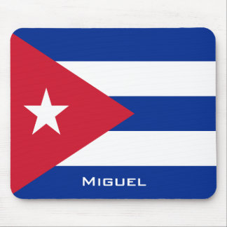 National Flag of Cuba with Your Name Mouse Pad