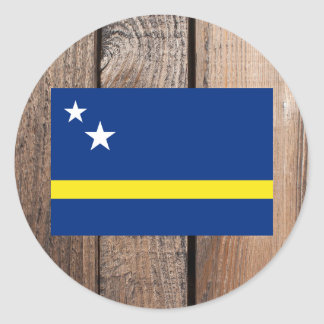 National Flag of Curacao Classic Round Sticker