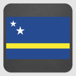 National Flag of Curacao Square Sticker