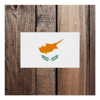 National Flag of Cyprus Poster