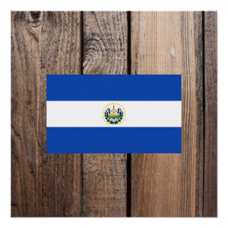 National Flag of El Salvador Poster