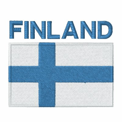 National Flag of Finland Embroidered Hooded Sweatshirt
