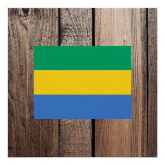National Flag of Gabon Poster