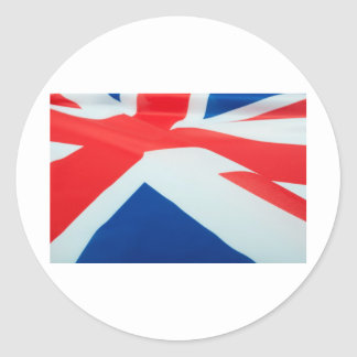 National Flag Of Great Britain Round Sticker