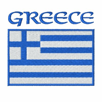 National Flag of Greece Embroidered Hoodie