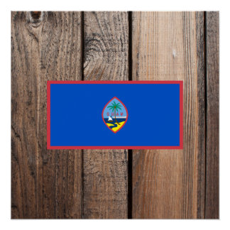 National Flag of Guam Poster