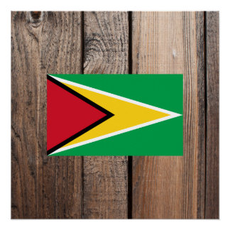 National Flag of Guyana Poster