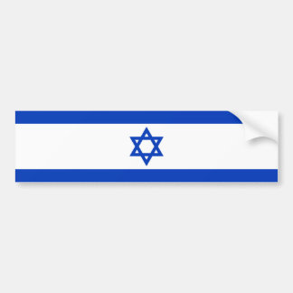 National flag of Israel - Authentic version Bumper Sticker