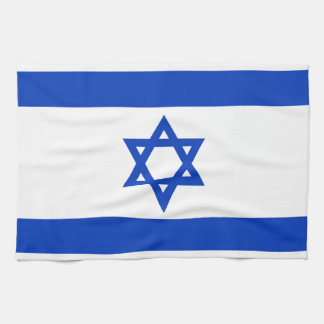 National flag of Israel - Authentic version Kitchen Towels