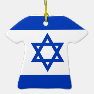 National flag of Israel - Authentic version Christmas Tree Ornament