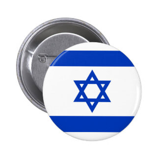 National flag of Israel - Authentic version Pinback Button