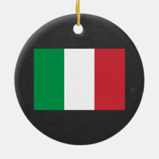 National Flag of Italy Ceramic Ornament