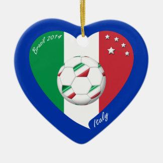 National flag of ITALY SOCCER of world 2014 Ceramic Ornament