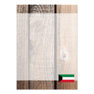 "National Flag of Kuwait 5"" X 7"" Invitation Card"