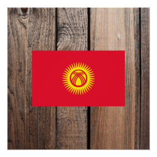 National Flag of Kyrgyzstan Poster