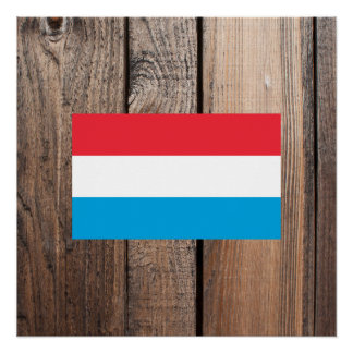National Flag of Luxembourg Poster