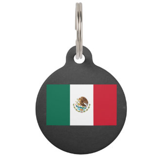National Flag of Mexico Pet Name Tag