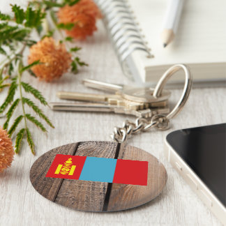 National Flag of Mongolia Basic Round Button Keychain