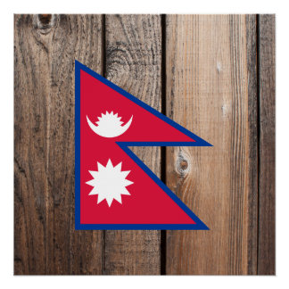 National Flag of Nepal Poster