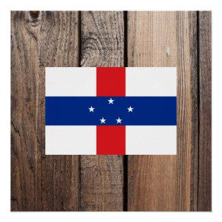 National Flag of Netherlands Antilles Poster