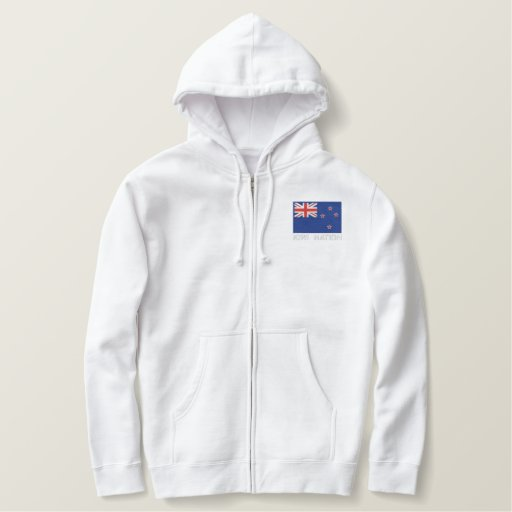 National Flag of New Zealand - Kiwi Nation Embroidered Hoodie
