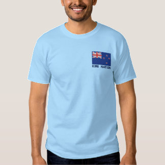 National Flag of New Zealand - Kiwi Nation Embroidered T-Shirt