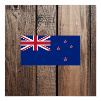 National Flag of New Zealand Poster