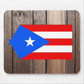 National Flag of Puerto Rico Mouse Pad