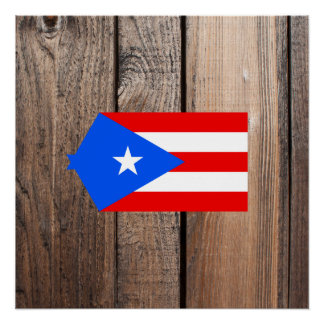 National Flag of Puerto Rico Poster