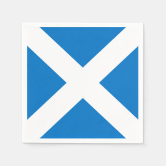 National Flag of Scotland Saint Andrew's Cross Paper Napkin