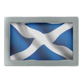 National Flag of Scotland & St Andrew Patriotic Belt Buckle