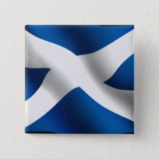 National Flag of Scotland & St Andrew Patriotic Pinback Button