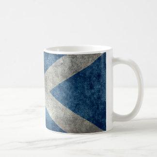 National flag of Scotland - Vintage version Coffee Mug