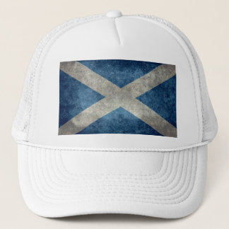 National flag of Scotland - Vintage version Trucker Hat