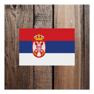 National Flag of Serbia Poster