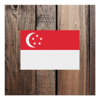 National Flag of Singapore Poster