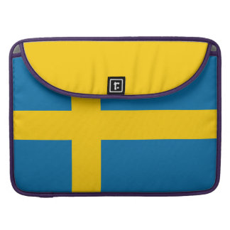 National Flag of Sweden MacBook Pro Sleeve
