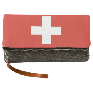 National Flag of Switzerland Clutch