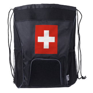 National Flag of Switzerland Drawstring Backpack