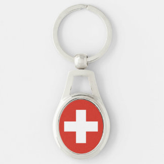 National Flag of Switzerland Keychain