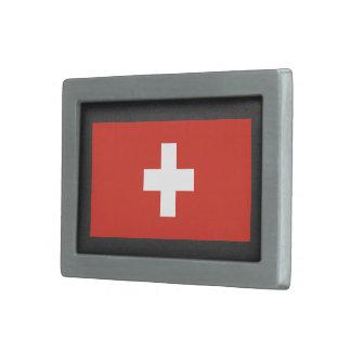 National Flag of Switzerland Rectangular Belt Buckle