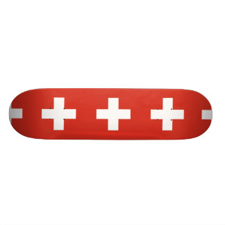 National Flag of Switzerland Skateboard