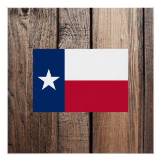 National Flag of Texas Poster