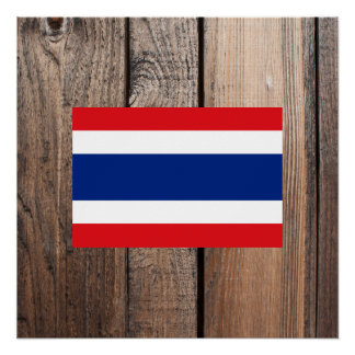 National Flag of Thailand Poster