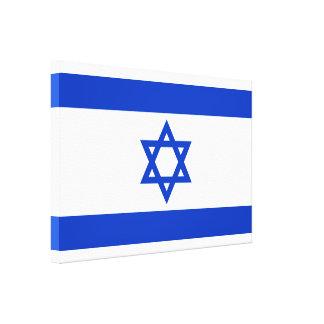 National flag of the state of Israel Canvas Print