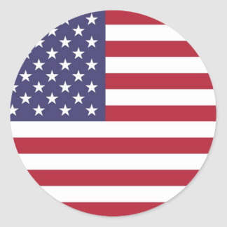 """National flag of the USA - Authentic Scale """"G-spec Round Stickers"""