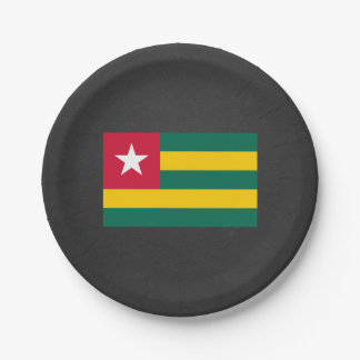 National Flag of Togo Paper Plate