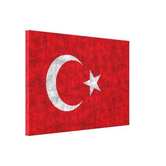 National flag of Turkey Canvas Print