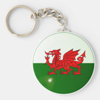 National Flag of Wales Button Keychain